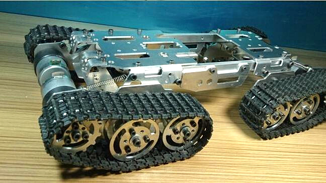 Alloy Tank Chassis Tractor Crawler Clever Robotic Automobile Impediment Avoidance barrowland diy rc toy distant management