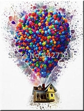5D Full Resin Square Diamond Painting free balloon house embroidery Needlework Mosaic Cross Stitch Home Decoration