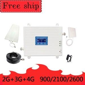 Image 1 - GSM 2G WCDMA 3G LTE 4G 900/2100/2600MHZ טלפון סלולרי מגבר אות 2G 3G 4G LTE 2600 מהדר מאיץ טלפון נייד