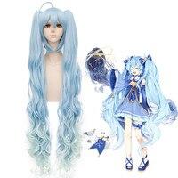 Wysokiej Jakości Japońskiej Anime Hatsune Miku Cosplay Peruki księżniczka Długi Kiści Kręcone włosy Nowy