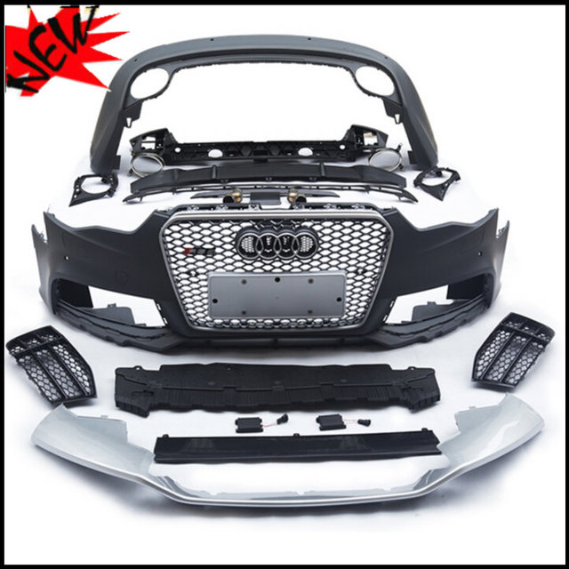US $3289 0 |PP RS5 bodykit auto body kits bodykits for Audi A5 S5 Sportback  change to RS5 front bumper&rear bumper+front grill &exhuast pipe-in