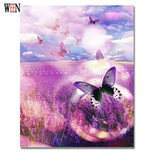 Oil Painting Picture On Wall By Numbers Nique Gift Coloring Flower Sea Canvas Paintings