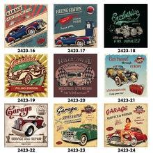 Station de remplissage Garage réparation Service voiture Vintage Club métal étain signe rétro maison mur Art décor fer affiche pour Bar PubTire magasin