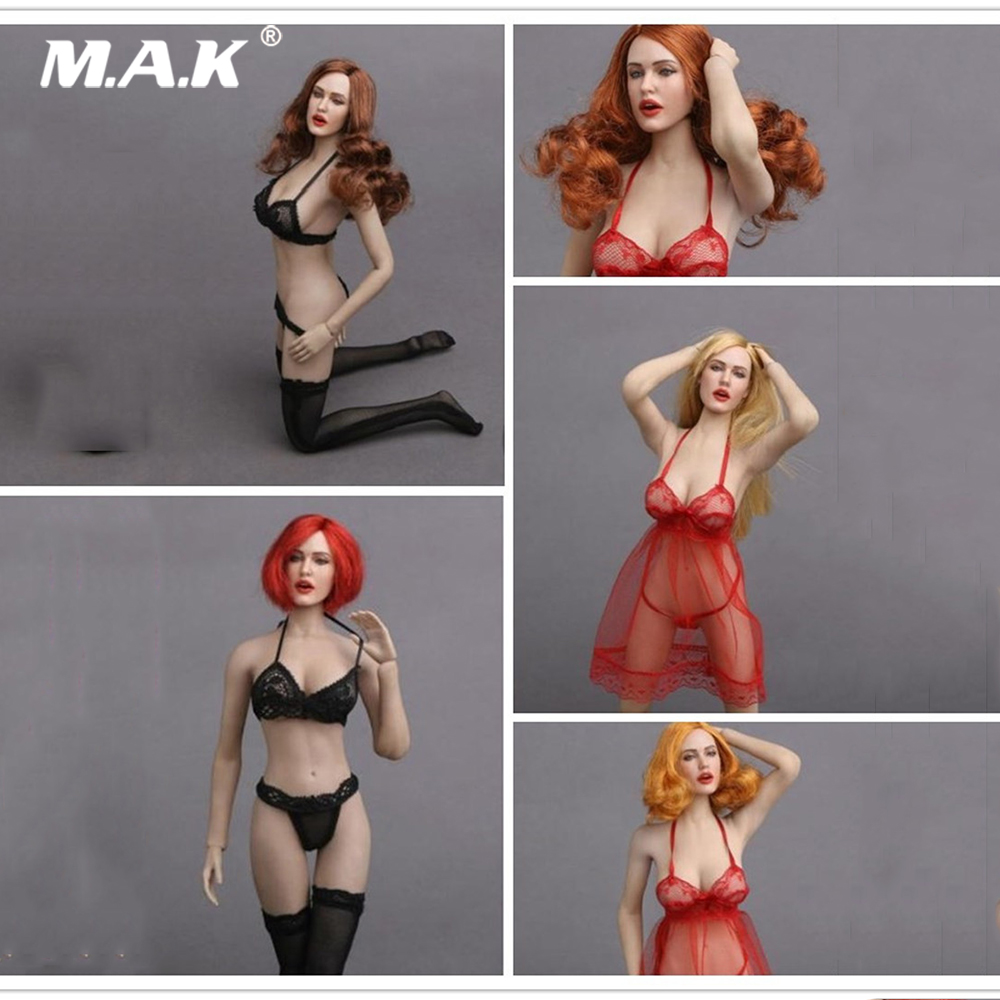 5 Styles 1/6 Scale Sexy Lady Head Sculpt GC017 for 12
