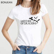 Hot sale Game of Throne Mother Of Dragons t shirt women 2019 summer fashion t-shirt femme Short Sleeve O-neck Tops tshirt