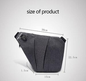 Image 4 - NewBring siyah tek omuz çantaları erkekler için su geçirmez naylon Crossbody çanta erkek anti hırsızlık göğüs çantası