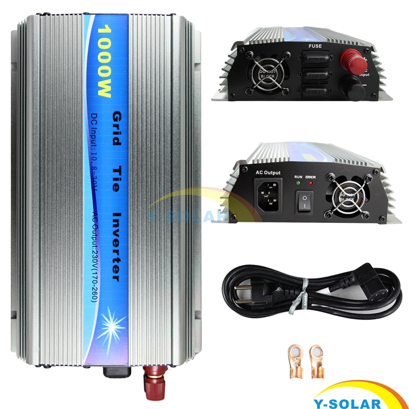 Фото 1000W MPPT Function Grid Tie Inverter Pure Sine Wave 220V Output 18V Input Micro on Grid Tie Inverter 18V 36 Soar Cells