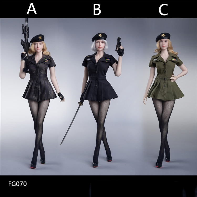 1 6 Female Figure Clothes Accessory FG070 US Military Style Seamless Pantyhose Series Suit tricolor Model