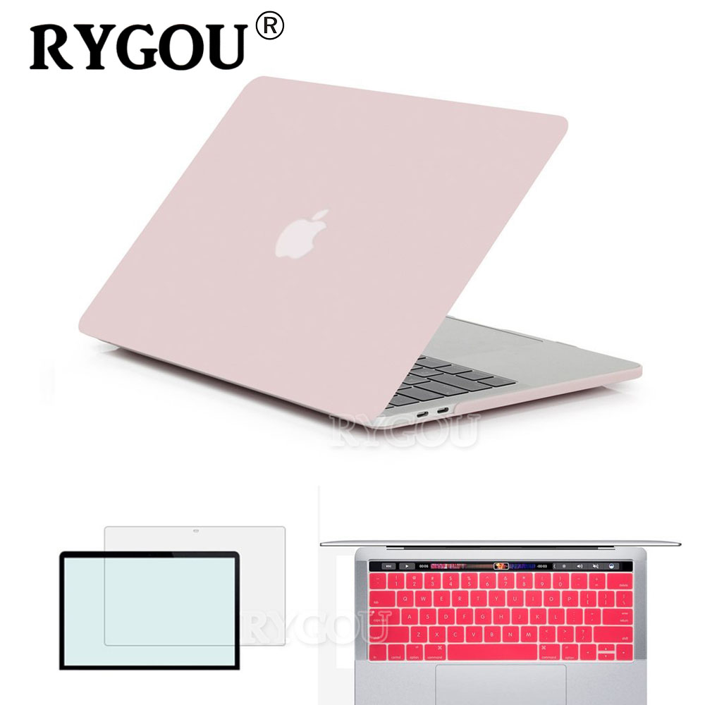rygou clear matte hard cover case for new macbook pro 13 with touch bar a1706 case for mac book. Black Bedroom Furniture Sets. Home Design Ideas