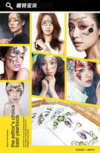 Masquerade Golden Flash Tattoo Paste Face Temporary Flash Tattoos Jewelry Arab India's Large Temporary Tattoos