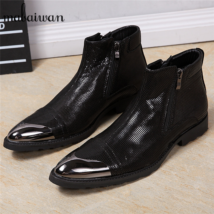 Fashion Men Ankle Boots Black Soft Leather Botas Hombre Pointed Toe Side Zipper Cowboy Military Boot Creepers Oxfors Dress Shoes напольная плитка grasaro parquet art gt 508 gr 40x40