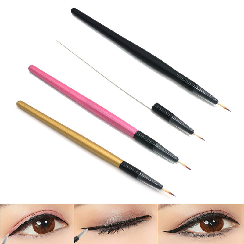 Eyeliner-Brush Makeup-Tools Cosmetic Wooden-Handle Professional Women 4-Colors Diy Hot-Sale title=