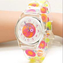 Caliente Willis para las mujeres relojes de señoras reloj de cuarzo de marca transparente planeta resina banda reloj Y456