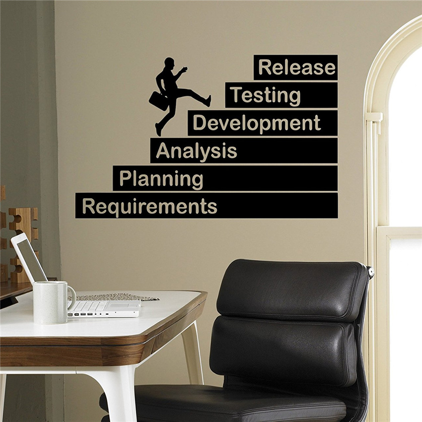 Business Wall Decal Finance Growth Vinyl Sticker Home Interior Office Wall Decor Art Mural Housewares Design M49