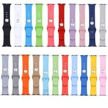 HOT Sale 2016 38mm Soft Rubber Straps Smart Watch Bands Watchband Bracelets Strap for Apple Watch