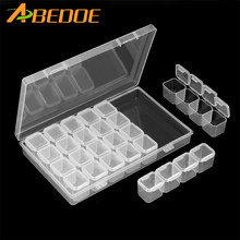 28Lattices Dismountable Diamond Embroidery Accessories diamond painting Boxes Cross Stitch Cases Storage Organizer Home Storage(China)