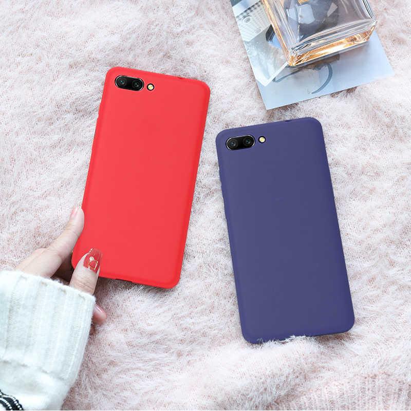 Candy Farbe Fall Für Huawei Ehre 7C Pro 8X Max Y9 2019 Y7 Prime 2018 Mate 20 P30 Pro P20 lite P Smart 2019 Matte Weichen Fällen