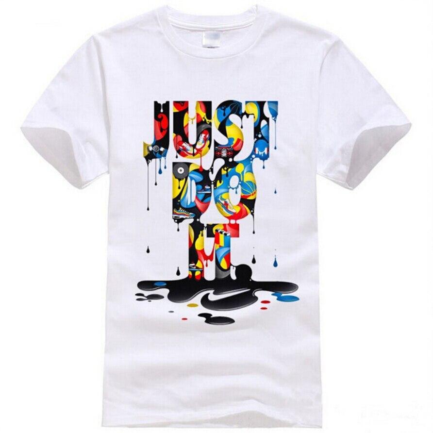 2016 new fashion t shirt brand clothing just do it letter print men t shirt summer