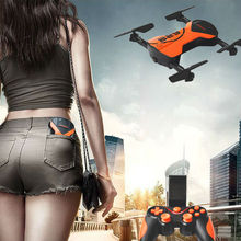 Складной Мини RC drone Мультикоптер С Передатчиком FPV Wi-Fi Камера Airpressure Высокое удержание Режим Easier to Play, чем JJRC h37
