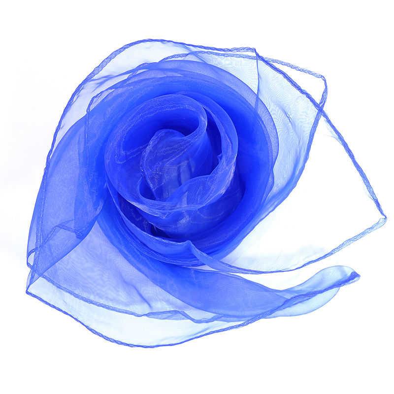 Faroonee 1 Pcs Einfarbig Seide Schal Kleine Candy Farbe Schal Frauen Tragen Schals Großhandel Kopf Bands Strand Urlaub Stil