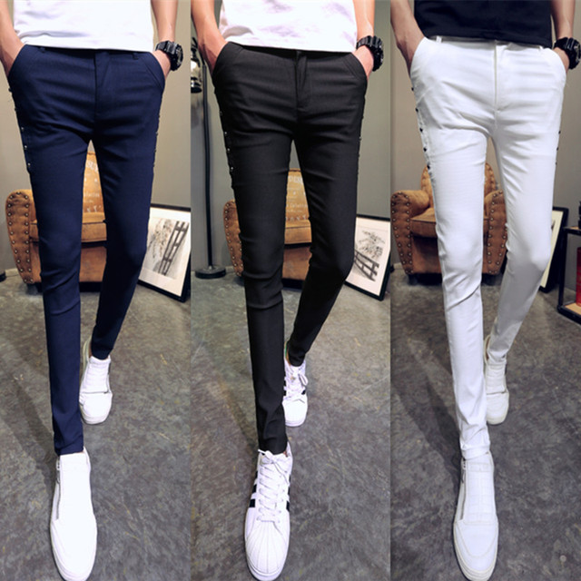 Brand New Men Summer Pants Fashion 2020 All Match Skinny Pants Men Streetwear Casual Trousers Men Hot Sale 5