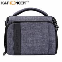 K&F CONCEPT Camera Case Shoulder Bag Handbag + Rain Cover for Canon for Nikon for Sony for all DSLR Camera 2 color free shipping
