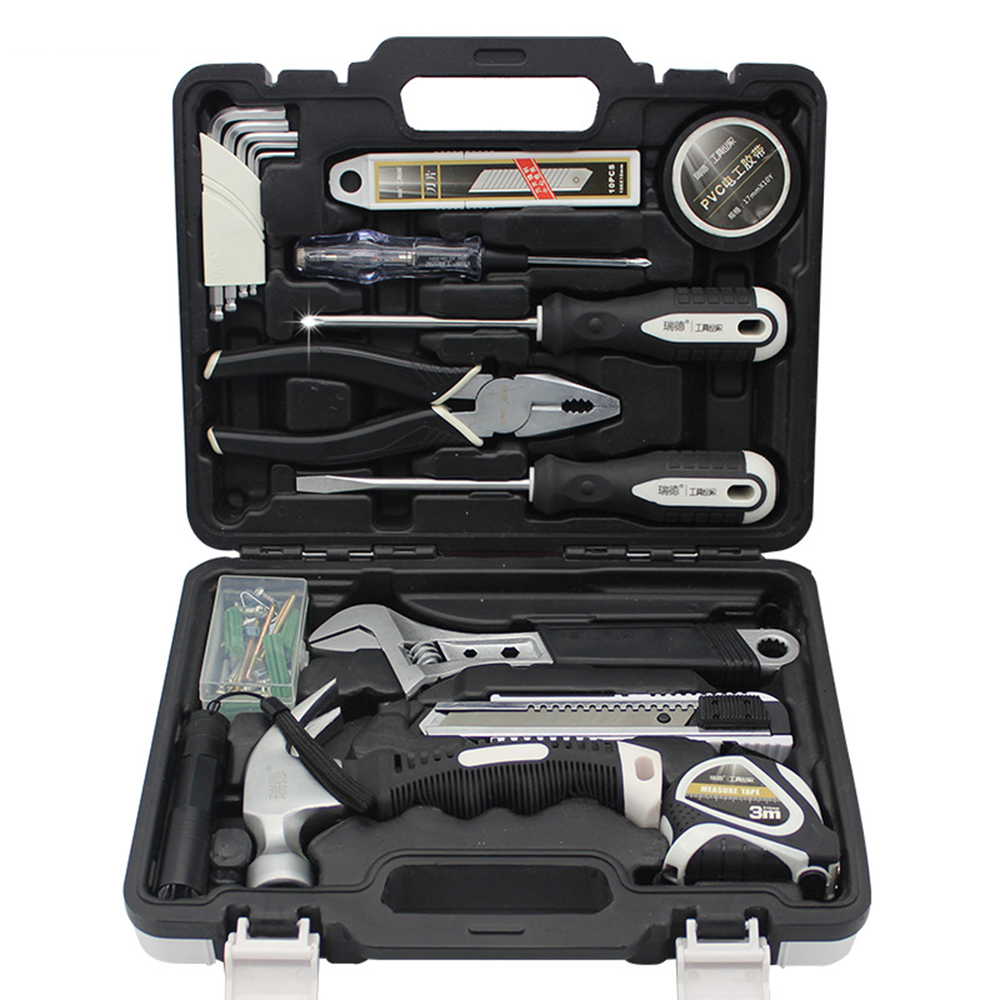 45PCS Home Repair Set of Tools Hexahedron Blade Tape Screwdriver Pliers Accessories Wrench Claw Hammer Tape Measure 84pcs set of tools electric tool for accessories screwdriver electronic pen pliers cable cutter multimeter claw hammer wrench