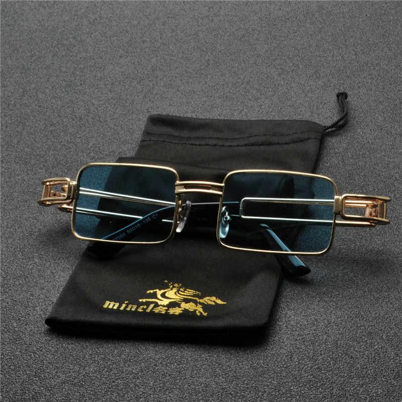 a6f2adaff994 Small punk Sunglasses Women Men Vintage square Hip Hop Punk Sun Glasses  Metal Brand Designer Ladies