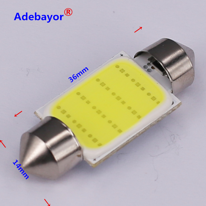 Image 4 - 100X 31mm 36mm 39mm 42mm C5W Car led festoon light COB 12 chips Auto super bright COB Festoon MAP/DOME/INTERIOR LIGHTS Adebayor-in Signal Lamp from Automobiles & Motorcycles