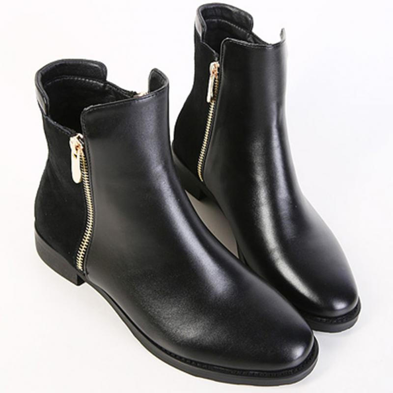 Black Flat Ankle Boots for Women Promotion-Shop for Promotional ...