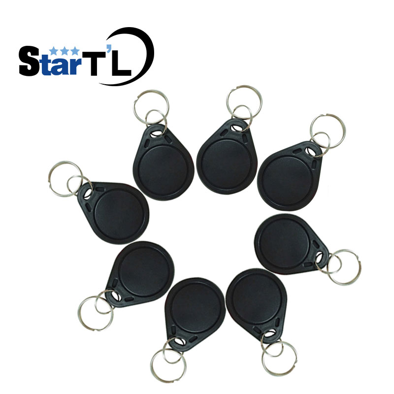 100pcs 125Khz RFID Proximity Keyfobs Ring Access Control Card Rfid Tag Black For Door Access Control System