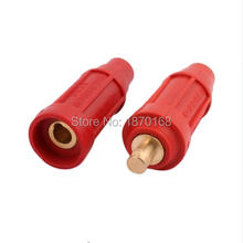 цена на DKL-50 200-315A 50mm Red/Black 2 Welding Cable Quick Fitting Soldering Male Female Connector