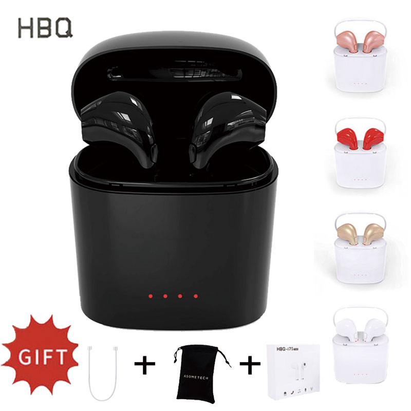 цены HBQ i7 TWS Wireless Earbuds Bluetooth Stereo Invisible Headset I7s TWS Twins Earphone For iPhone 6S 6 i8 i9 X SE Galaxy S8 Plus