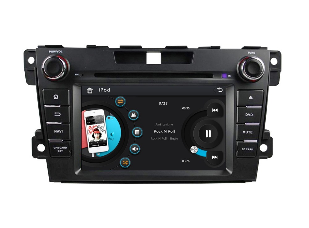 HD 2 din 7″ Car DVD Player for Mazda CX-7 CX 7 2012 2013 2014 With Radio /RDS GPS Navigation Bluetooth IPOD TV SWC USB AUX IN