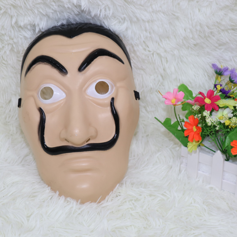 20pcs La Casa De Papel Mask Salvador Dali Plastic Face Funny Mask Costumes Cosplay Masque Mascara Dali Mask Money Masks