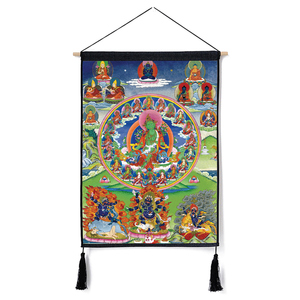 Image 5 - Traditional Thanka Beautiful Buddhist Scroll Painting Home Decor Wall Hanging Tapestry Cotton Linen Scroll Painting with Tassels