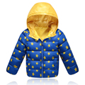 2017 Fashion Unisex Hooded Jackets Warm Baby 90% Thick Duck Down Parkas Coats Kids Star Print Children Outerwear For Cold Winter