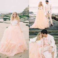 Peach Color bridal gown 2018 hot sale sweetheart vestido de noiva Spaghetti Strap Sleeveless party prom Beach bridesmaid dresses