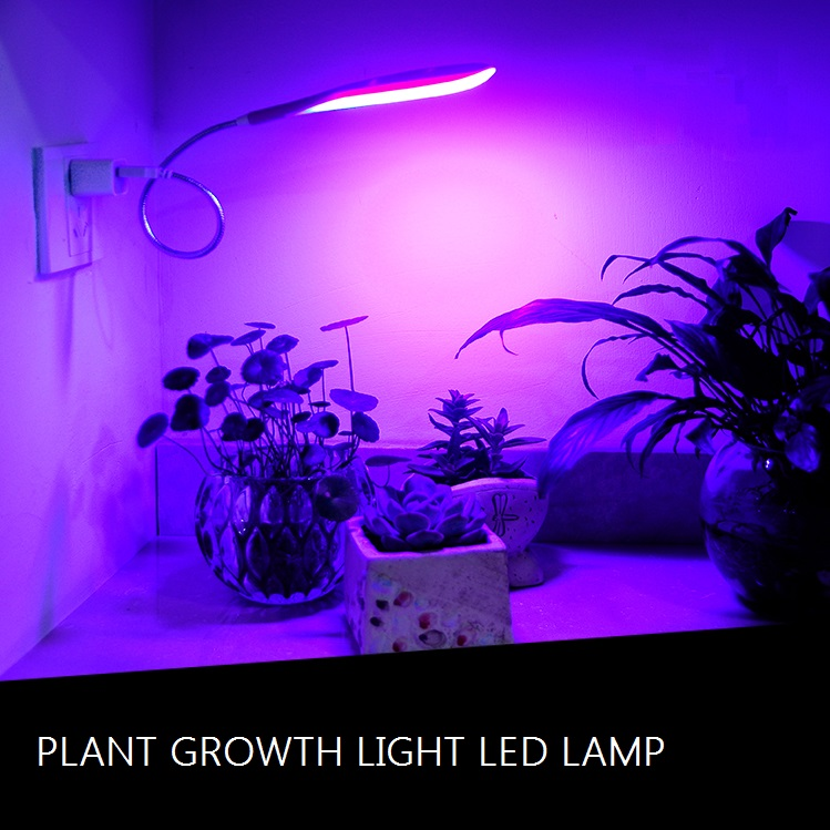 Us 13 97 11 Off Newest Usb Led Grow Light With 360 Degrees Flexible Lamp Blue Red Plant Growth For Indoor Or Desktop Plants In