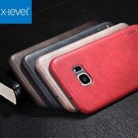 X Level Original Ultra Thin Slim Case For Samsung Galaxy S7 S7 Edge Luxury Vintage PU