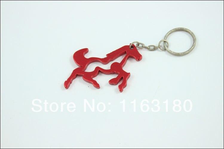 240 pcs lot Aluminum alloy metal horse shaped keychain bottle opener promotion gift free shipping