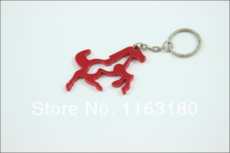 240 stks/partij aluminiumlegering metalen paard vormige sleutelhanger flesopener promotie gift gratis verzending-in Opener van Huis & Tuin op  Groep 1