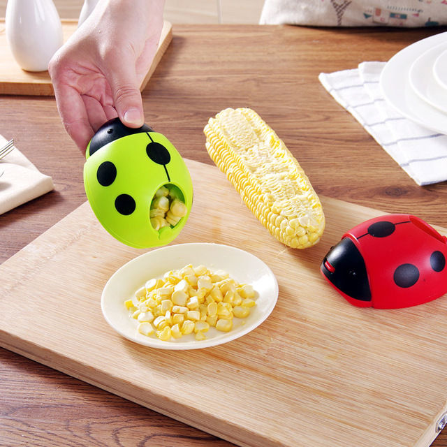 Ladybug Hand Corn Kernel Stripper