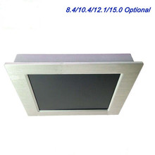 fanless 12 inch touch screen industrial panel mini pc with 2*RJ45 touch screen pc monitor support windows xp
