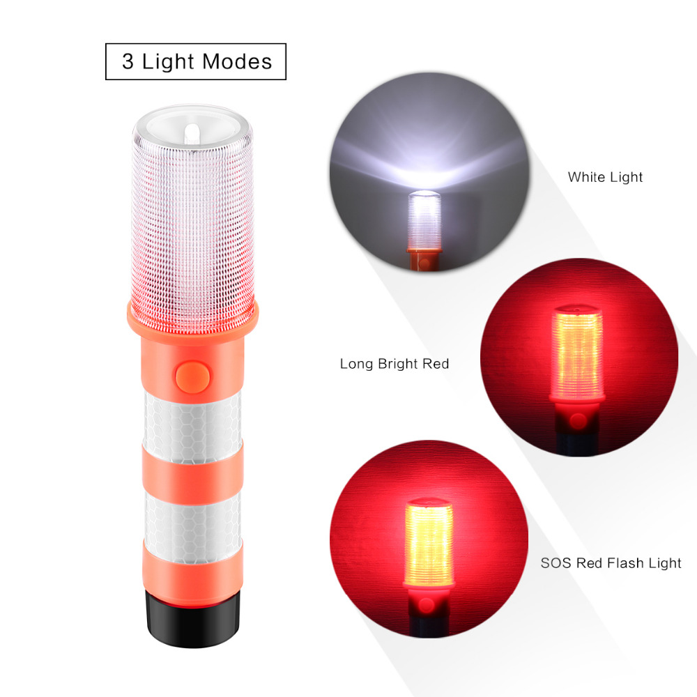 2pcs led portable lamp road security flashing flash flare strobe