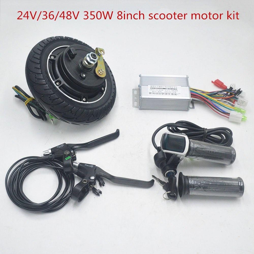 24V 36V 48V 350W electric scooter motor kit 8.5inch wheel for electric scooter engine DIY