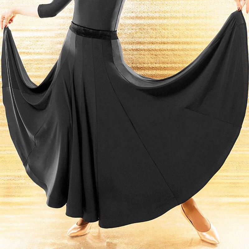 New Ballroom Latin Dance Skirt Women Black Competition Long Skirts Cha Cha Waltz Dresses For Dancing Accept Customize Size
