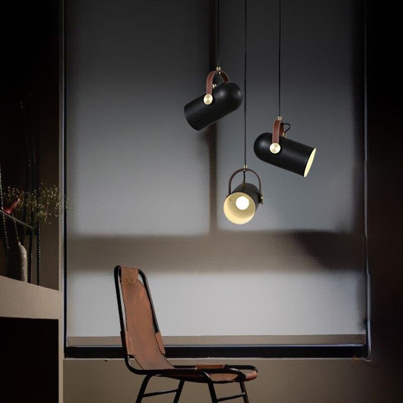Minimalista Nordic alumínio levou pingente luz restaurante bar cozinha/Sala de Jantar Luminária designer de moda lâmpada de Iluminação Para Casa