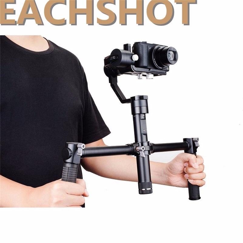 Zhiyun Dual-handheld-grip + Crane 3-axis Stabilizer Handheld Gimbal for DSLR Canon,Nikon, Sony Alpha7 handheld gimbal Cameras