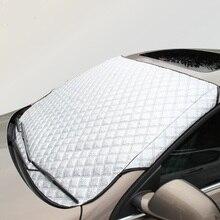Yi ka tragbare autofenster sonnenschutz auto schnee abdeckungen für suv/gewöhnlichen uv aluminium plus baumwolle auto windschutzscheibe schnee blockiert